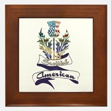Scottish American Thistle Framed Tile