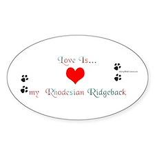 Ridge Love Oval Decal