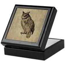 Vintage Owl Keepsake Box
