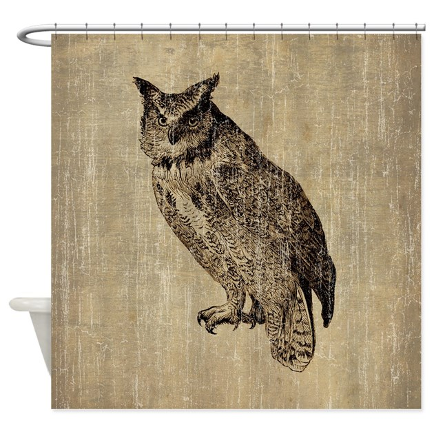 Vintage Owl Shower Curtain By Esangha