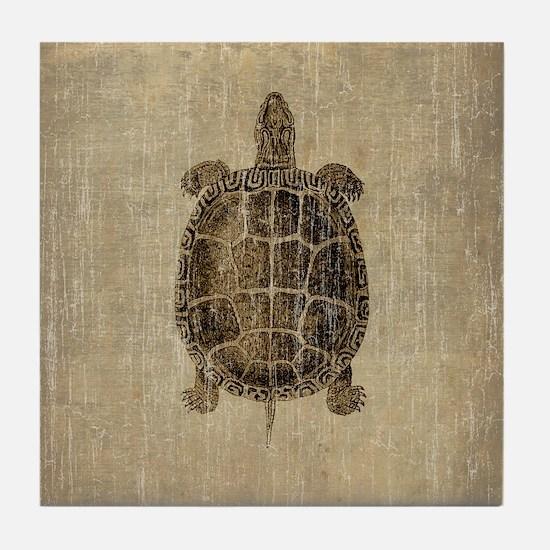 Vintage Turtle Tile Coaster