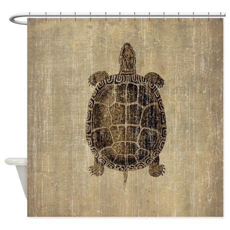 Vintage Turtle Shower Curtain By Esangha