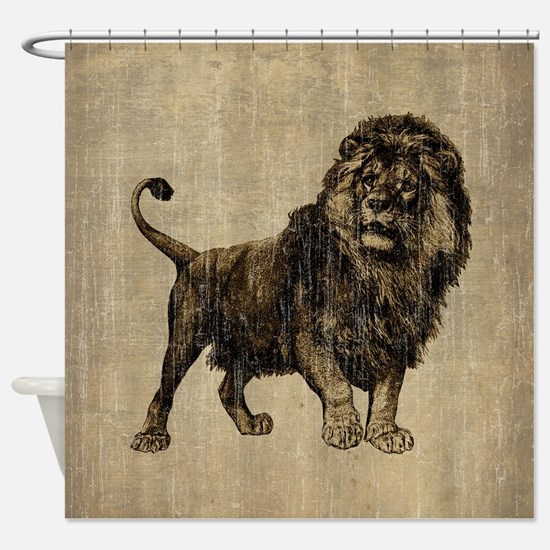 Vintage Lion Shower Curtain