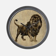 Vintage Lion Wall Clock