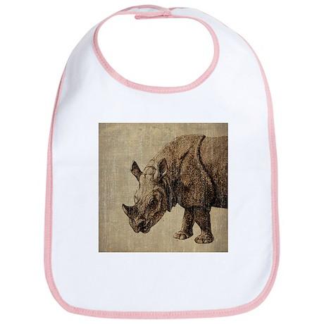 Vintage Rhinoceros Bib