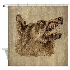 Vintage Wolf Shower Curtain