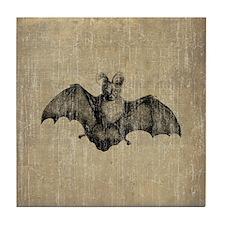 Vintage Bat Tile Coaster