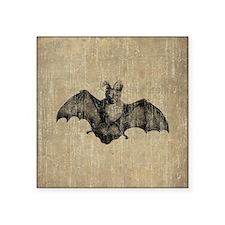 "Vintage Bat Square Sticker 3"" x 3"""