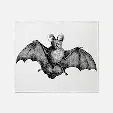 Vintage Bat Throw Blanket
