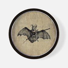 Vintage Bat Wall Clock