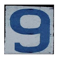 9 - N.O. Street Tile Replicas Tile Coaster