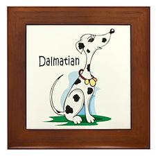 Dalmatian Cartoon Framed Tile
