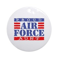 Proud Air Force Aunt Ornament (Round)