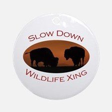 bison Ornament (Round)