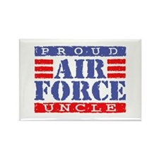 Proud Air Force Uncle Rectangle Magnet