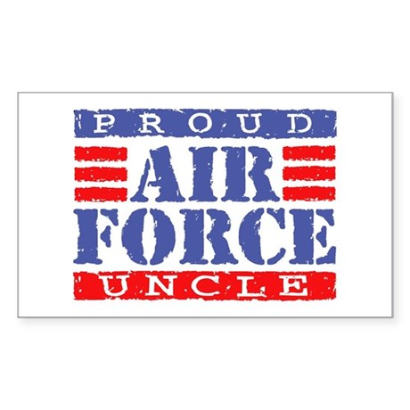 Proud Air Force Uncle Rectangle Sticker