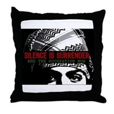 Silence is Surrender Throw Pillow
