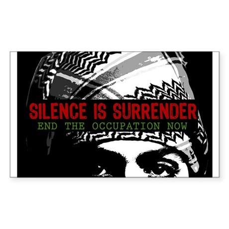 Silence is Surrender Rectangle Sticker