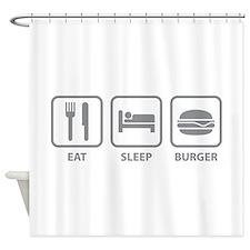 Eat Sleep Burger Shower Curtain