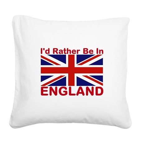 England Lover Square Canvas Pillow