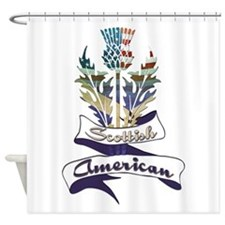 Scottish American Thistle Shower Curtain
