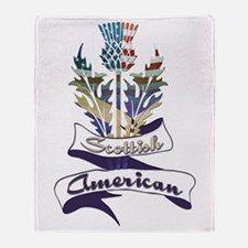 Scottish American Thistle Throw Blanket