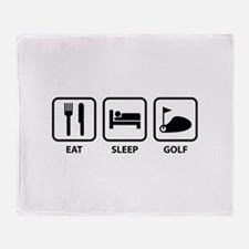 Eat Sleep Golf Throw Blanket