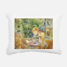Girl Reading Rectangular Canvas Pillow