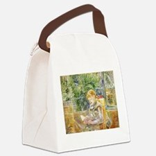 Girl Reading Canvas Lunch Bag