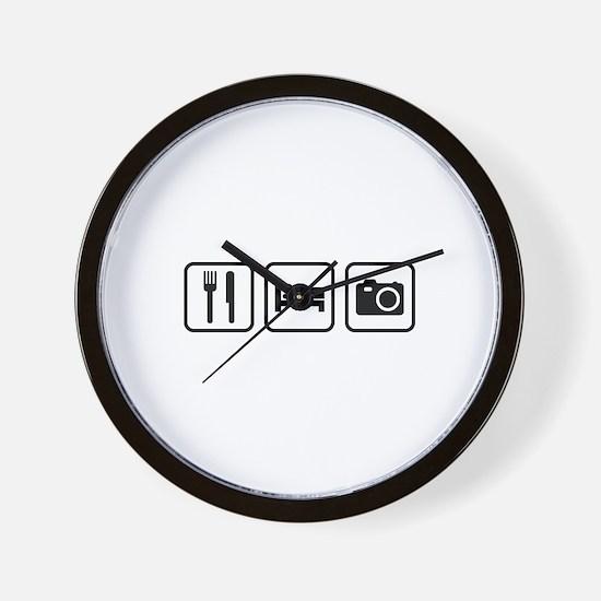 Eat Sleep Photography Wall Clock