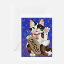 Maneki Neko of Abundance Greeting Card