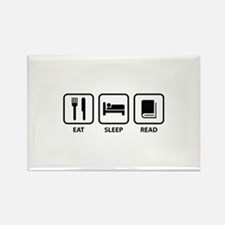 Eat Sleep Read Rectangle Magnet