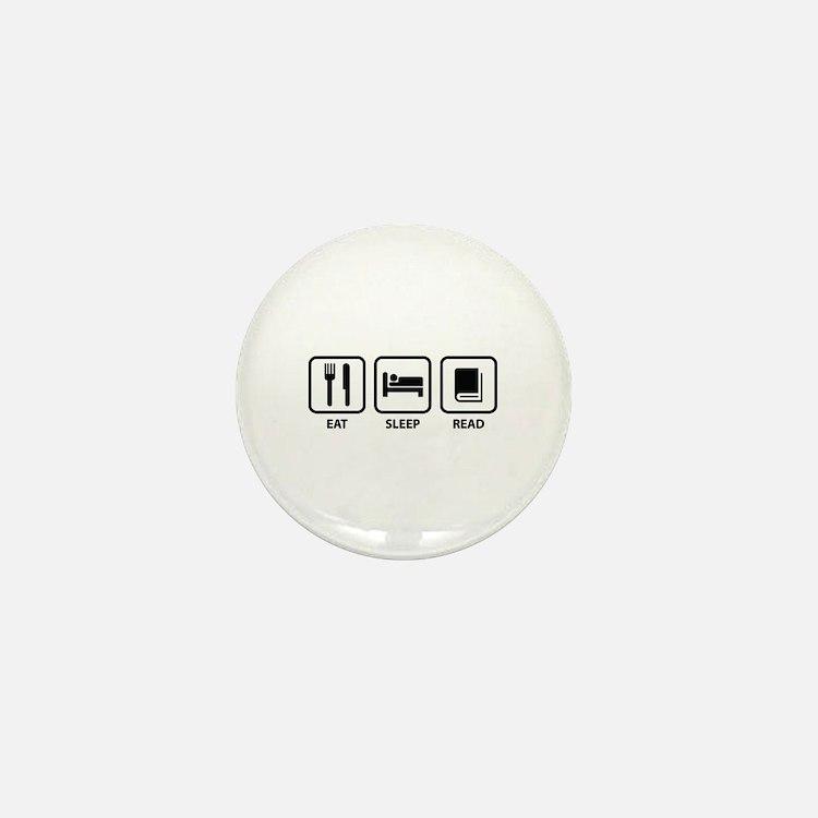 Eat Sleep Read Mini Button
