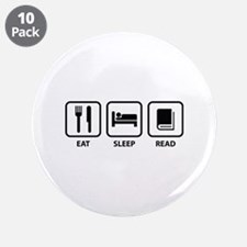 "Eat Sleep Read 3.5"" Button (10 pack)"