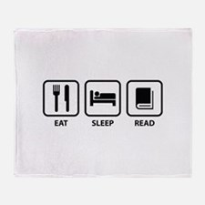 Eat Sleep Read Throw Blanket