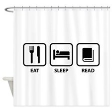 Eat Sleep Read Shower Curtain