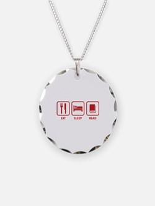 Eat Sleep Read Necklace