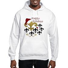 Happy Holidays Santa Fleur de lis Hoodie