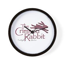 Crimson Rabbit Merlot Wall Clock