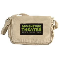 Logo Green Messenger Bag