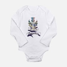 Scottish American Thistle Long Sleeve Infant Bodys
