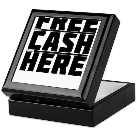Free Cash Here Keepsake Box
