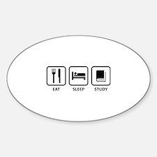 Eat Sleep Study Sticker (Oval)