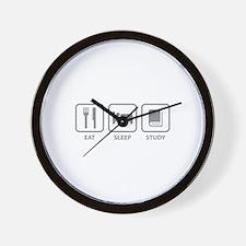 Eat Sleep Study Wall Clock