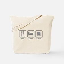 Eat Sleep Study Tote Bag