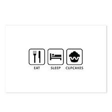 Eat Sleep Cupcakes Postcards (Package of 8)