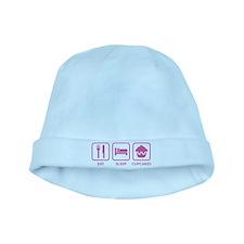 Eat Sleep Cupcakes baby hat