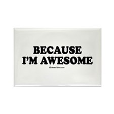 Because I'm awesome - Rectangle Magnet