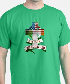 Irish American Celtic Cross T-Shirt