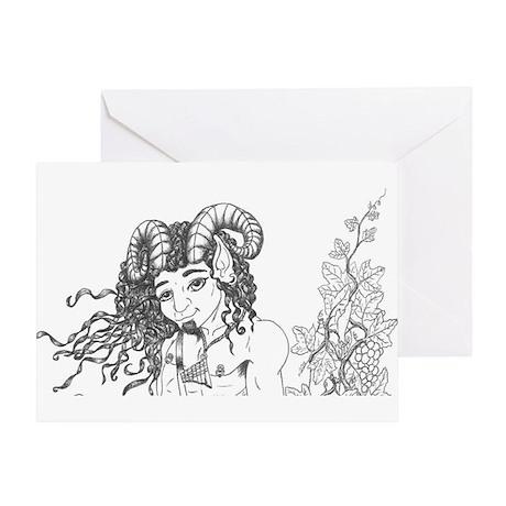 Pan of the Vinyard Greeting Card